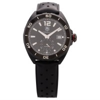 Pre-Owned TAG Heuer Mens Formula 1 Calibre 6 Automatic 41mm Black Rubber Strap Watch WAZ2112.FT8023