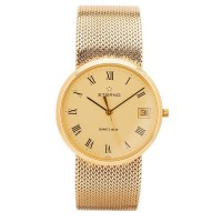 Pre-Owned Eterna 9ct Yellow Gold Mesh Watch 4410048