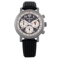 Pre-Owned Chopard Mens Titanium Automatic Rubber Strap Watch 4410236