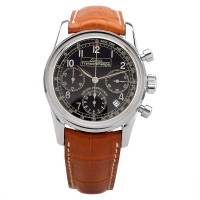 Pre-Owned Mens Girard-Perregaux Limited Edition Ecurie Francorchamps Black Chronograph Automatic Leather Strap Watch 49460
