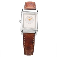 Pre-Owned Jaeger LeCoultre Ladies Reverso Duetto Diamond Bracelet Watch Q2668120