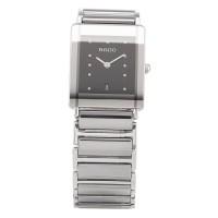 Pre-Owned Rado Mens Jubile Diastar Diamond Silver Titanium Bracelet Watch