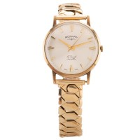 Pre-Owned Rotary Mens Rolled Gold Bracelet Watch F0512469478