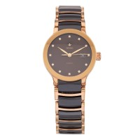 Pre-Owned Rado Ladies Rose Gold Plated Ceramic Diamond Watch EX 2472041