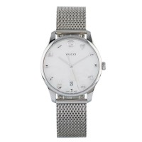 Pre-Owned Gucci G-Timeless Mother Of Pearl Dial Watch G607088482