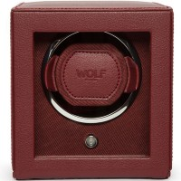 WOLF Bordeaux Cub Watch Winder With Cover 461126
