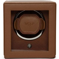 WOLF Cognac Cub Watch Winder With Cover 461127