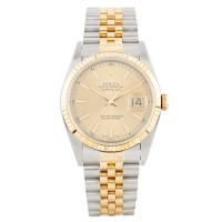 Pre-Owned Rolex Mens Datejust Two Tone Bracelet Watch 16233V1595