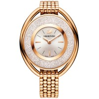 Swarovski Crystalline Oval Rose Gold Tone White Bracelet Watch 5200341