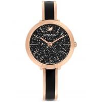 Swarovski Black Crystalline Delight Rose Gold Bracelet Watch 5580530