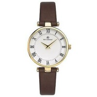 Accurist Ladies Gold Tone Brown Leather Strap Watch 8206