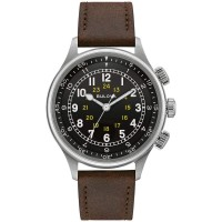 Bulova Mens A15 Pilot Automatic Strap Watch 96A245