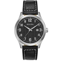 Bulova Mens Strap Watch 96B276