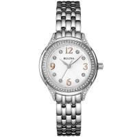 Bulova Ladies Crystal Bracelet Watch 96L212