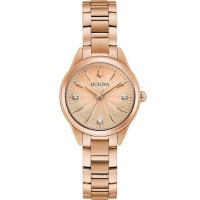 Bulova Ladies Sutton Diamond Dial Watch 97P151
