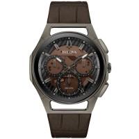 Bulova Mens Curv Chronograph Strap Watch 98A231