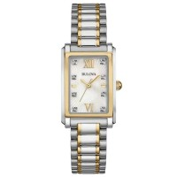Bulova Ladies Two Tone Diamond Bracelet Watch 98S144
