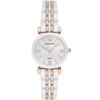 Emporio Armani Ladies White Ceramic Bracelet Watch AR70004