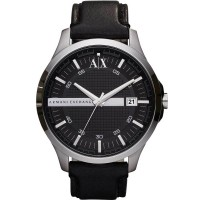 Armani Exchange Mens Two Tone Leather Strap Watch AX2101