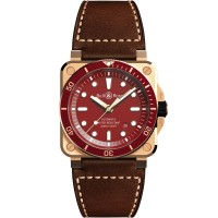 Bell & Ross Mens Limited Edition BR 03-92 Diver Red Bronze Watch BR0392-D-R-BR/SCA