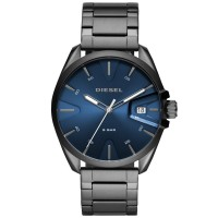 Diesel MS9 Blue Dial Gunmetal Bracelet Watch DZ1908