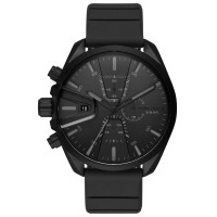 Diesel MS9 Black Rubber Strap Watch DZ4507