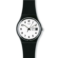 Swatch Black Rubber Strap Once Again Watch GB743