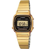 Casio CASIO Collection Retro Digital Gold Plated Bracelet Watch LA670WEGA-1EF