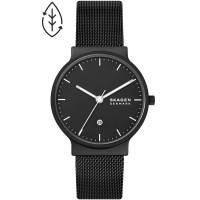 Skagen Mens Ancher Black Stainless Steel Mesh Watch SKW6778