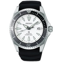 Seiko Mens Prospex Shogun Automatic Titanium Black Rubber Strap Watch SPB191J1