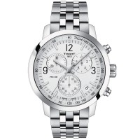 Tissot Prc200 Stainless Steel White Dial Chronograph Watch T114.417.11.037.00