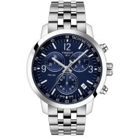 Tissot Prc200 Stainless Steel Blue Dial Chronograph Watch T114.417.11.047.00