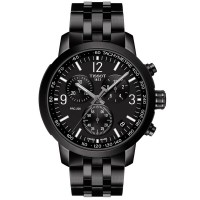 Tissot Prc200 Black Stainless Steel Chronograph Watch T114.417.33.057.00