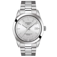 Tissot Gentleman Stainless Steel Silver Bracelet Watch T127.407.11.031.00