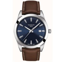 Tissot Gentleman Brown Strap Blue Dial Watch T127.410.16.041.00