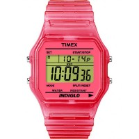 Timex Originals Unisex Pink Rubber Strap Watch T2N805