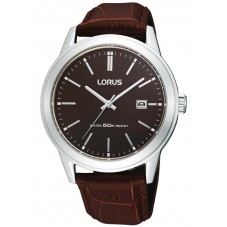 Lorus Mens Brown Leather Watch RH925BX9