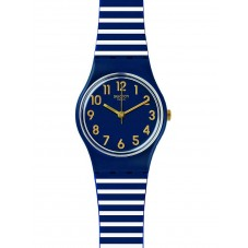Swatch Ladies Ora Daria Blue Strap Watch LN153
