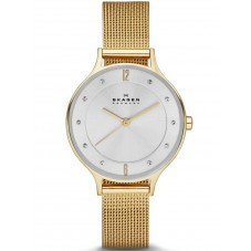 Skagen Ladies Anita Gold Plated Bracelet Watch SKW2150