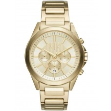 Armani Exchange Mens Gold Plated Bracelet Watch AX2602