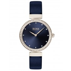 BOSS Ladies Celebration Blue Leather Strap Watch 1502477