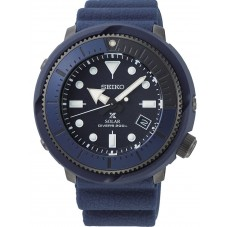 Seiko Mens Prospex Tuna Street Series Solar Navy Rubber Strap Watch SNE533P1