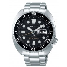 Seiko Mens Prospex Turtle Automatic Diver Black Dial Stainless Steel Bracelet Watch SRPE03K1