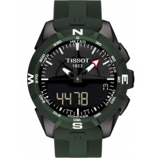 Tissot Mens T-Touch Expert Solar II Green Rubber Strap Watch T110.420.47.051.00