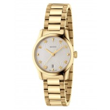 Gucci Ladies G-Timeless Small Gold Plated Signature Bracelet Watch YA126576A