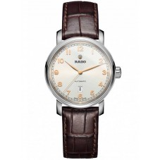 Rado Ladies DiaMaster Automatic Brown Leather Strap Watch R14050136
