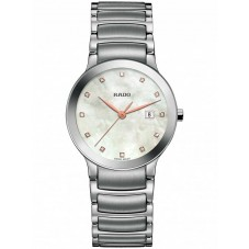 Rado Ladies Centrix Diamonds Quartz Grey and Silver Ceramic Bracelet Watch R30928913