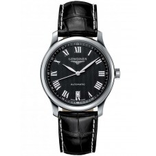 Longines Master Black Dial Leather Strap Watch L26284517