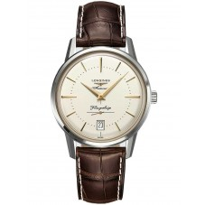 Longines Flagship Heritage Brown Leather Strap Watch L47954782
