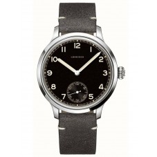 Longines Heritage Military Automatic Grey Leather Strap Watch L28264532
